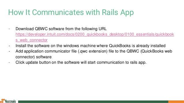 Integrating QuickBooks Desktop with Rails Application
