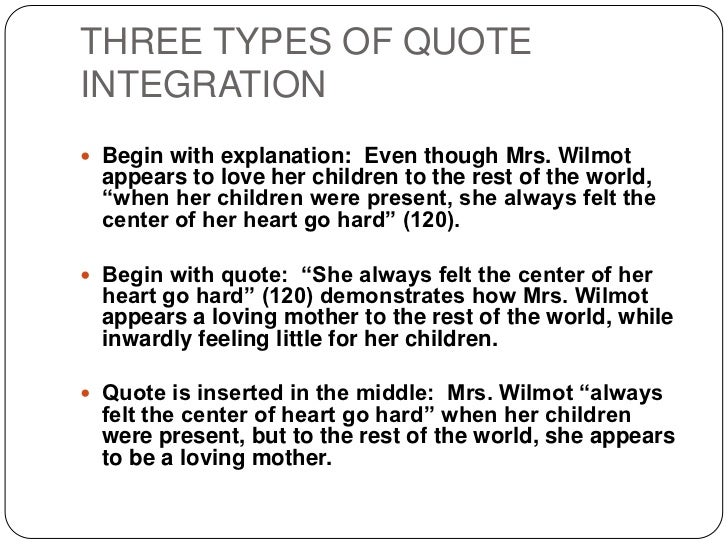 Quote Integration