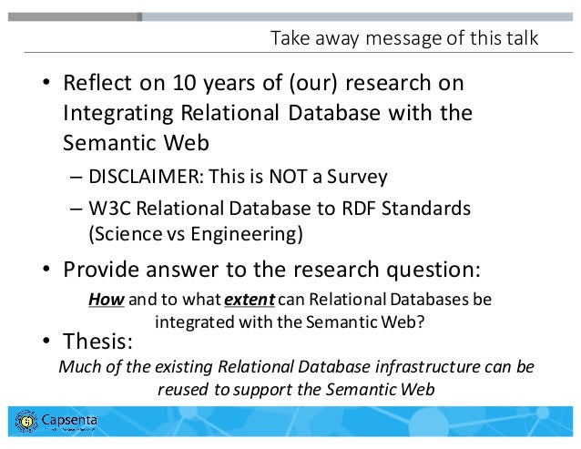 Integrating Relational Databases with the Semantic Web: A Reflection