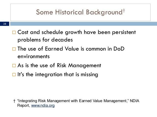 The integrating earned value management