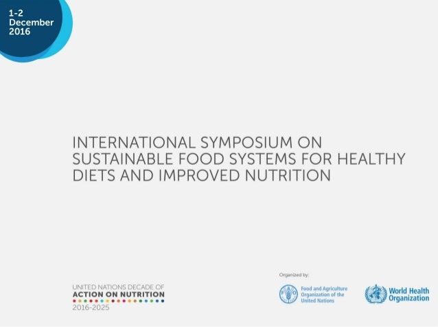 """INTEGRATING SCHOOL MEALS AND NUTRITION EDUCATION IN HIGH INCOME COUNTRY SETTING Dr. Klaus Heider Director-General for """"Foo..."""