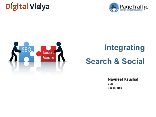 Integrating Search & Social Navneet	   Kaushal	    CEO	    PageTraffic
