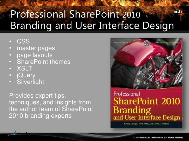 SharePoint 2010 Development with SilverlightAdvanced SharePoint 2010 andSilverlight 5 topics.Preview Safari Rough Cuts now...