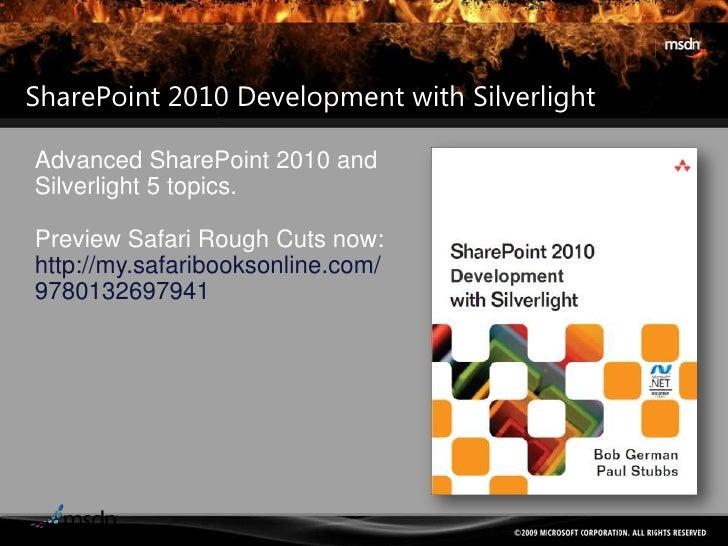 Session 7 - Integrating share point with silverlight firestarter