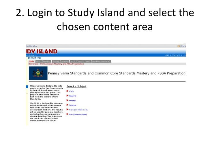 What kind of tools are available from Study Island?