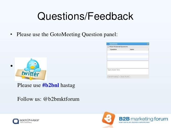 Integrating social media into a successful B2B marketing plan   b2 b-forum_webinar_december_2010 Slide 3