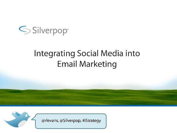 Today's Plan• PART 1:                  • PART 2:  A look at the role of      Crowd-source an  email marketing in         i...
