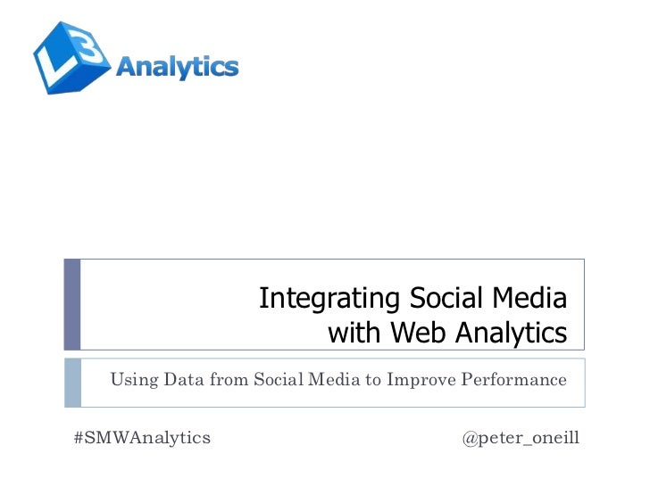Integrating Social Media                        with Web Analytics   Using Data from Social Media to Improve Performance#S...