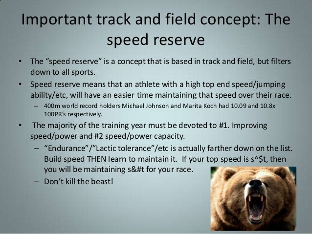 Integrating strength into sport conditioning demands for Koch 400m world record