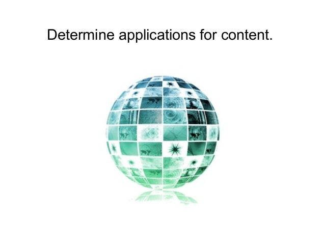 Determine applications for content.