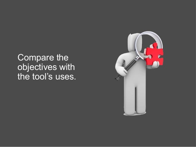 Compare the objectives with the tool's uses.