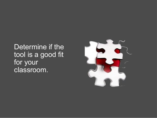 Determine if the tool is a good fit for your classroom.