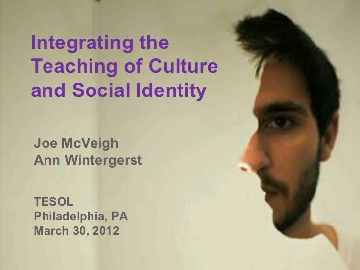 Integrating theTeaching of Cultureand Social IdentityJoe McVeighAnn WintergerstTESOLPhiladelphia, PAMarch 30, 2012
