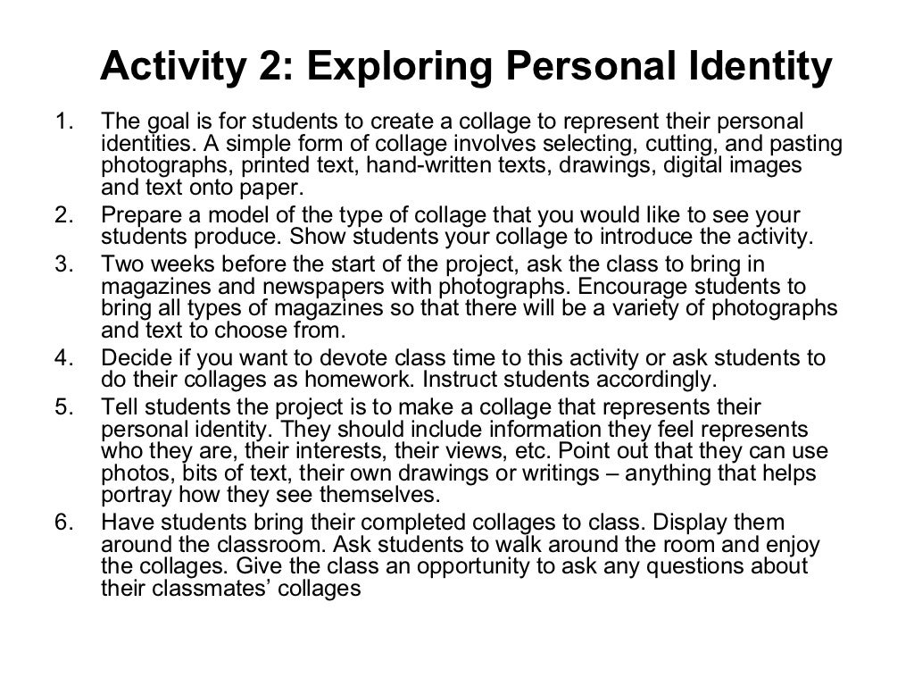 personal identity essay questions View and download personal identity essays examples also discover topics, titles, outlines, thesis statements, and conclusions for your personal identity essay.