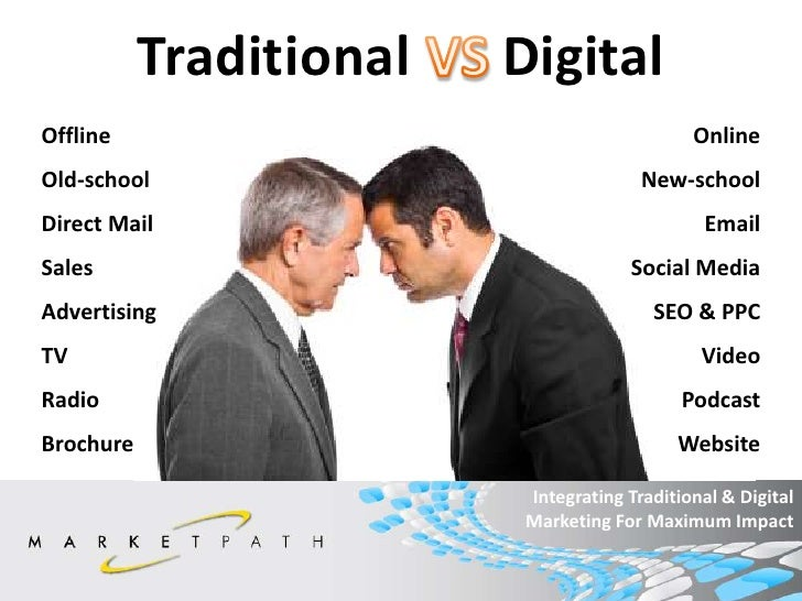intergration of traditional and digital marketing Differences between traditional and social media  the integration of digital  strategies including blogging, social media, and email  the trick of social media  marketing success is to join this community and harness its power.