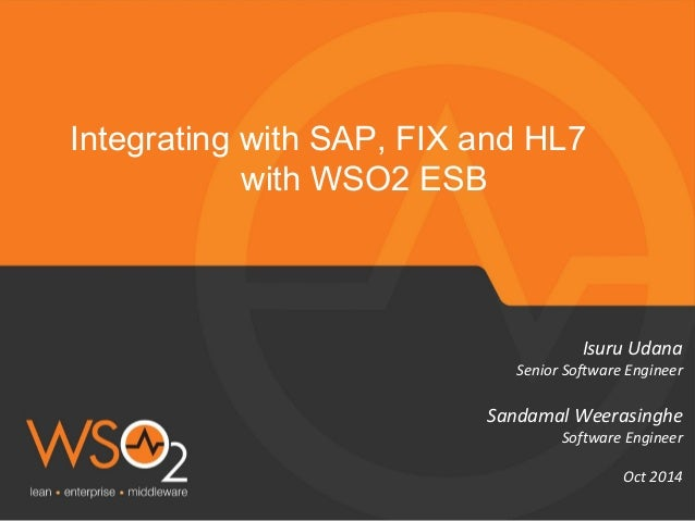 Integrating with SAP FIX and HL7