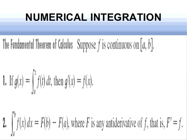 numerical integration There are two primary ways to perform numerical integration in excel: integration of tabular data integration using vba 1 integration of tabular data this type of numerical integration is largely reserved for experimental data.