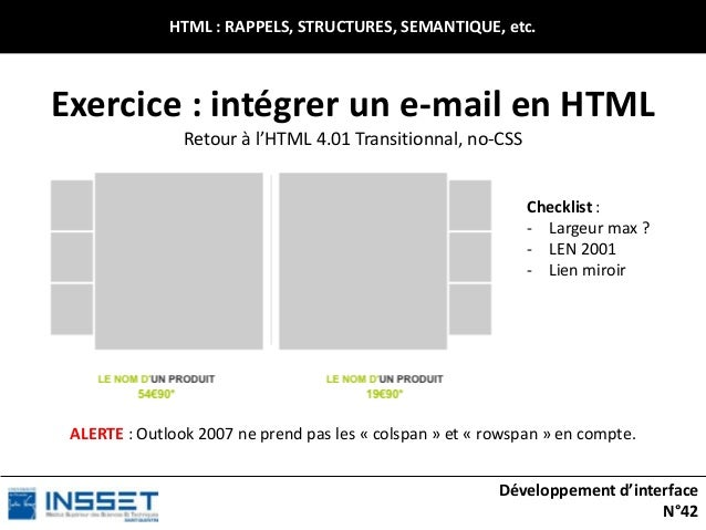 Développement d'interfaces web