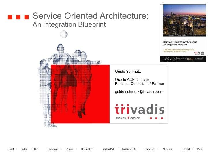 Service Oriented Architecture: An Integration Blueprint Guido Schmutz Oracle ACE Director Principal Consultant / Partner [...