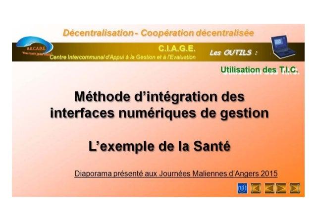 Integration interfaces sante Slide 1