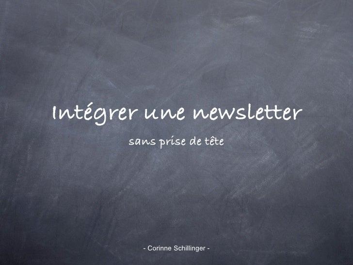 Intégrer une newsletter       sans prise de tête