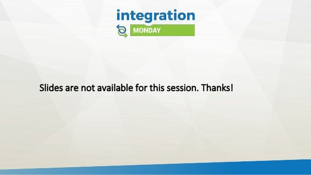 Slides are not available for this session. Thanks!