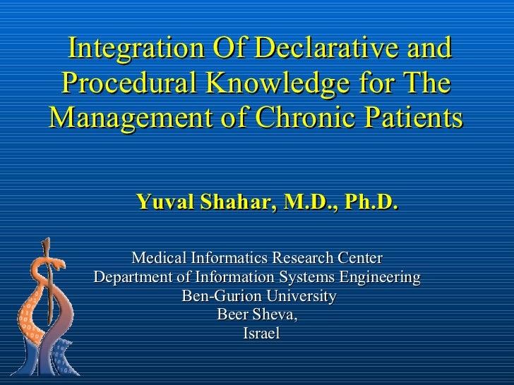 Medical Informatics Research Center Department of Information Systems Engineering  Ben-Gurion University Beer Sheva,   Isr...