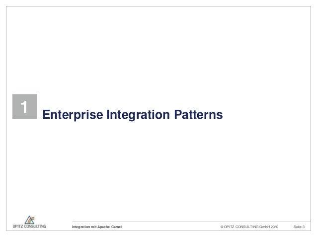 © OPITZ CONSULTING GmbH 2010 Seite 3Integration mit Apache Camel1 Enterprise Integration Patterns