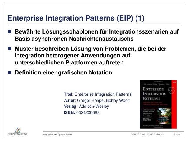 © OPITZ CONSULTING GmbH 2010 Seite 4Integration mit Apache CamelEnterprise Integration Patterns (EIP) (1) Bewährte Lösung...