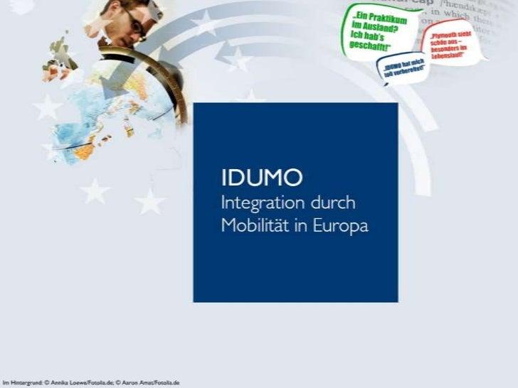 IDUMO Köln - Integration durch Mobilität in Europa