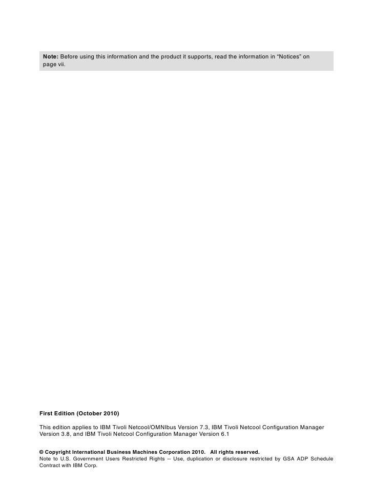 Integration guide for ibm tivoli netcool omn ibus, ibm