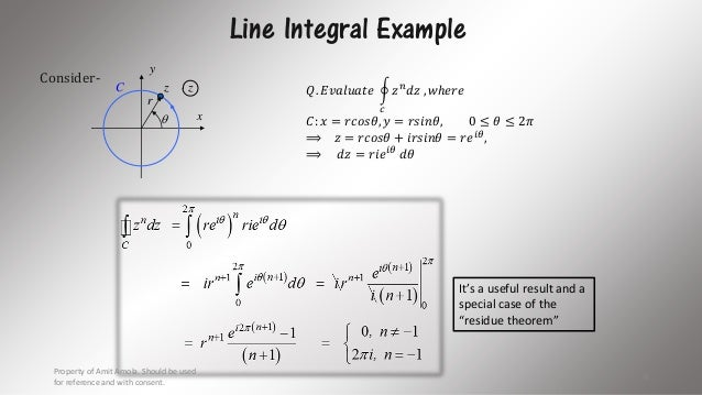 Image: example line integral over two line segments math insight.