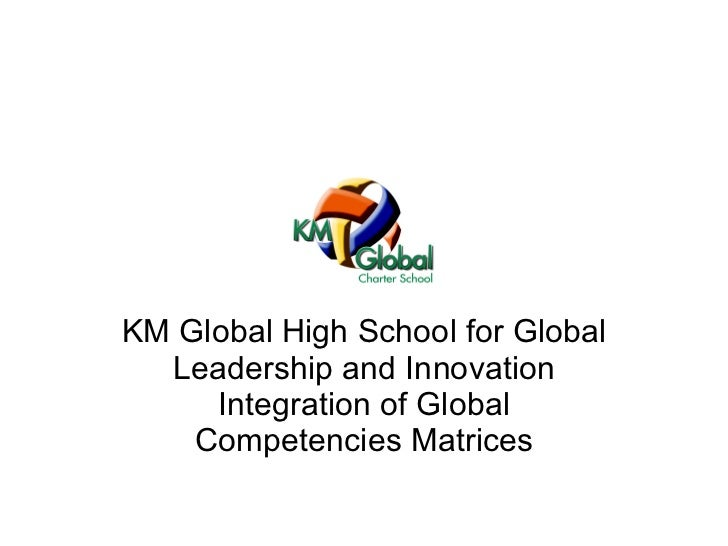KM Global High School for Global Leadership and Innovation Integration of Global Competencies Matrices