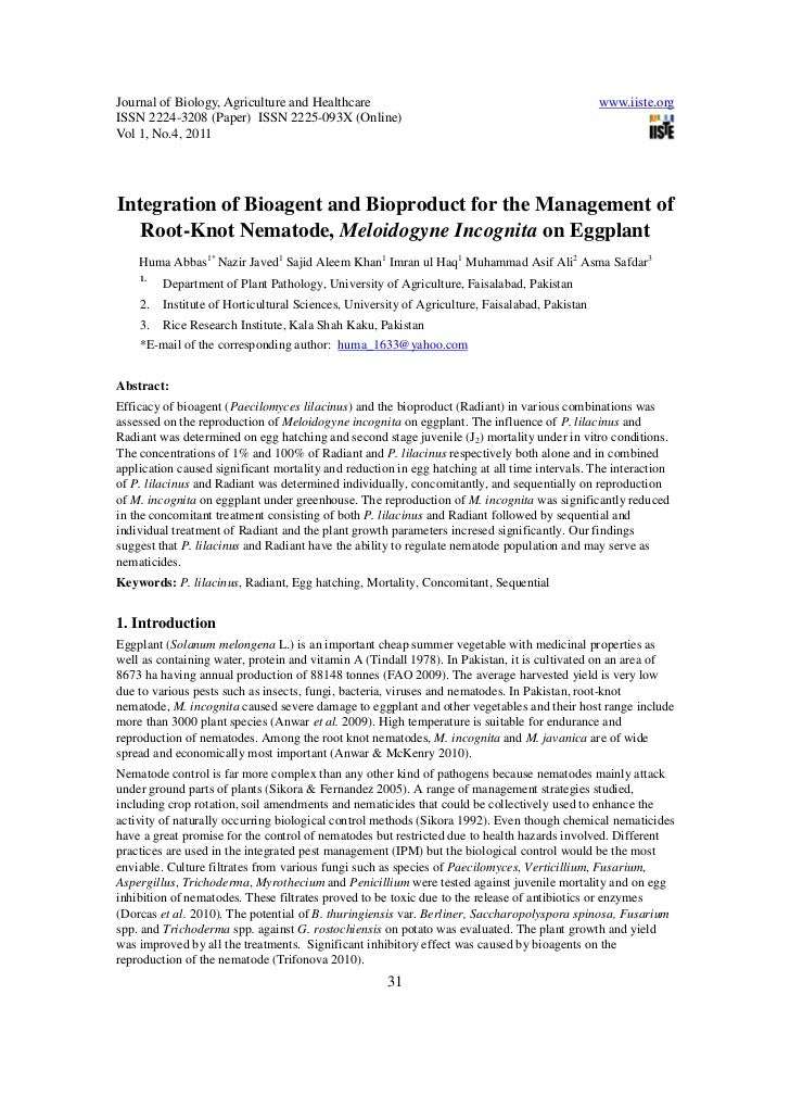 Journal of Biology, Agriculture and Healthcare                                                  www.iiste.orgISSN 2224-320...