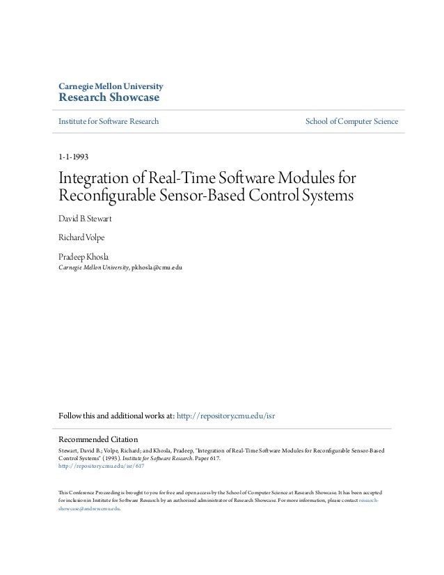 Carnegie Mellon UniversityResearch ShowcaseInstitute for Software Research                                                ...