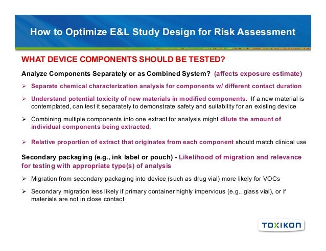Integration of Risk Assessment and Chemical Characterization