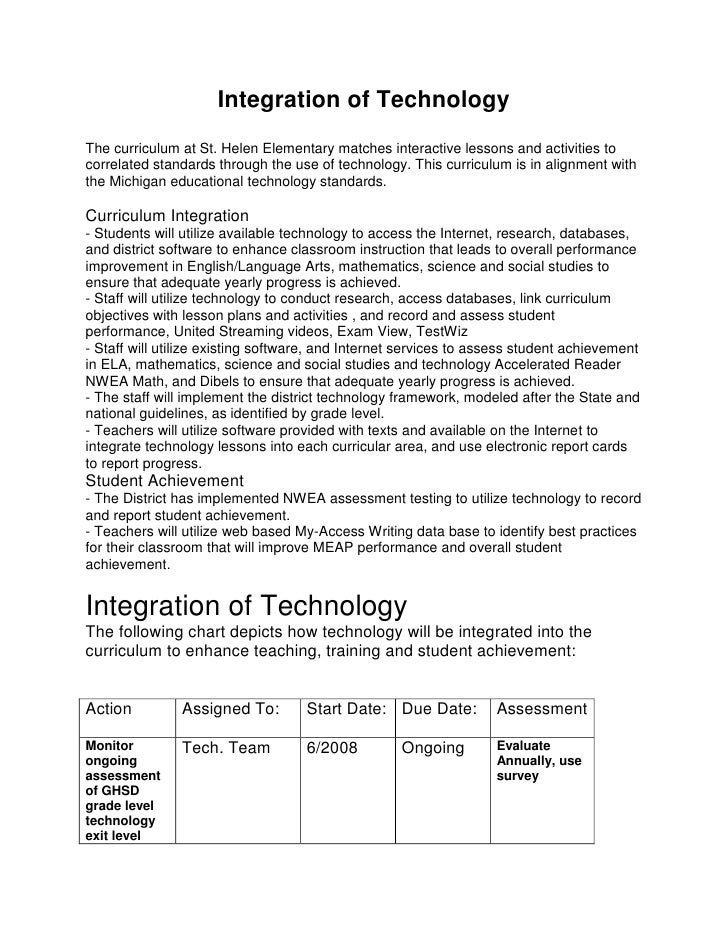 Integration of Technology<br />The curriculum at St. Helen Elementary matches interactive lessons and activities to correl...