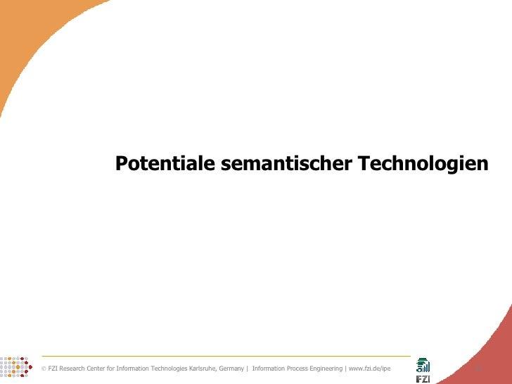 Potentiale semantischer Technologien