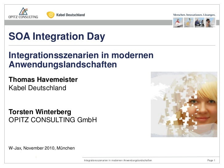 SOA Integration DayIntegrationsszenarien in modernenAnwendungslandschaftenThomas HavemeisterKabel DeutschlandTorsten Winte...
