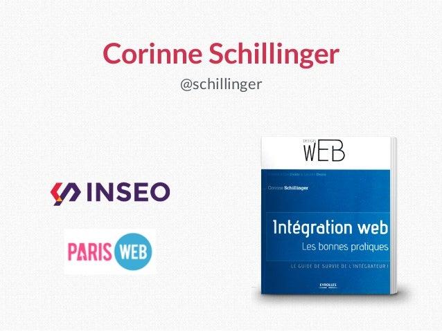 Corinne Schillinger @schillinger