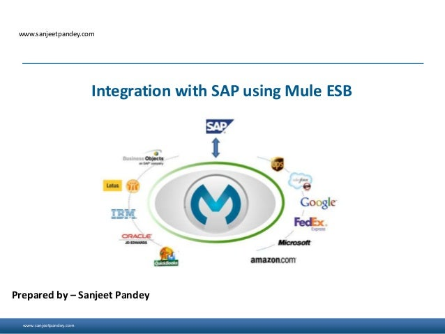 www.sanjeetpandey.com www.sanjeetpandey.com Prepared by – Sanjeet Pandey Integration with SAP using Mule ESB
