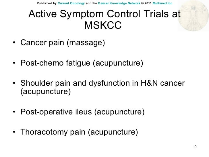 Integrative Cancer Care In An Academic Cancer Centre In The Us