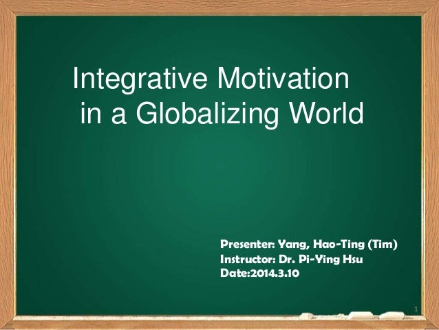 instrumental and integrative motivation Elements of integrative and instrumental motivation to language learning for example, in the latter, goal oriented values or instrumental motivation and language related attitudes or integrative motivation are expected.