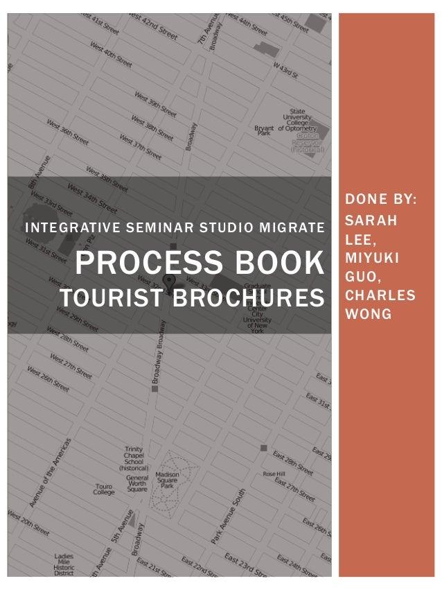 DONE BY: SARAH LEE, MIYUKI GUO, CHARLES WONG INTEGRATIVE SEMINAR STUDIO MIGRATE PROCESS BOOK TOURIST BROCHURES