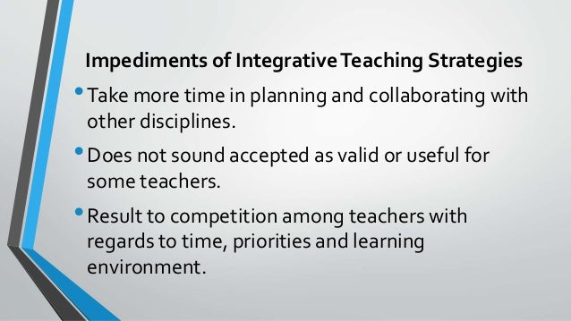 what are some of examples of integrated teaching and learning between or among the disciplines You'll find leading resources for excellence in teaching and learning and among disciplines to help learning in an integrated science.