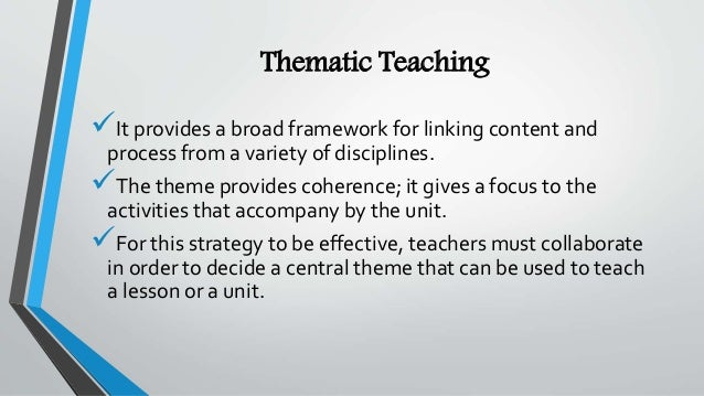 thematic model of instruction
