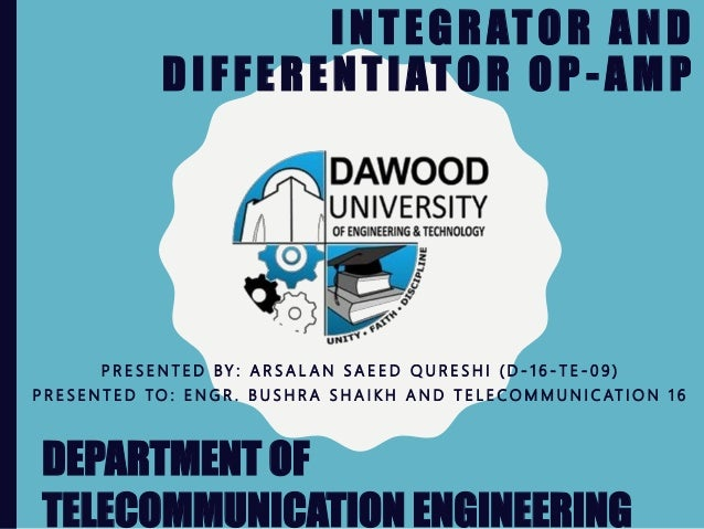 Integrator and differentiator op amp