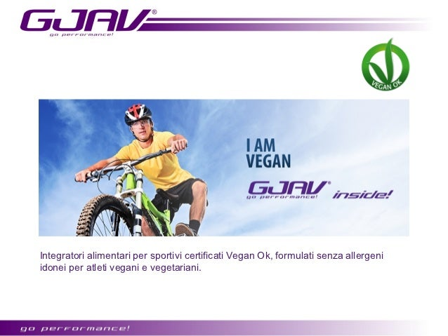 Integratori alimentari per sportivi certificati Vegan Ok, formulati senza derivati dellatte, senza proteine animali, senza...