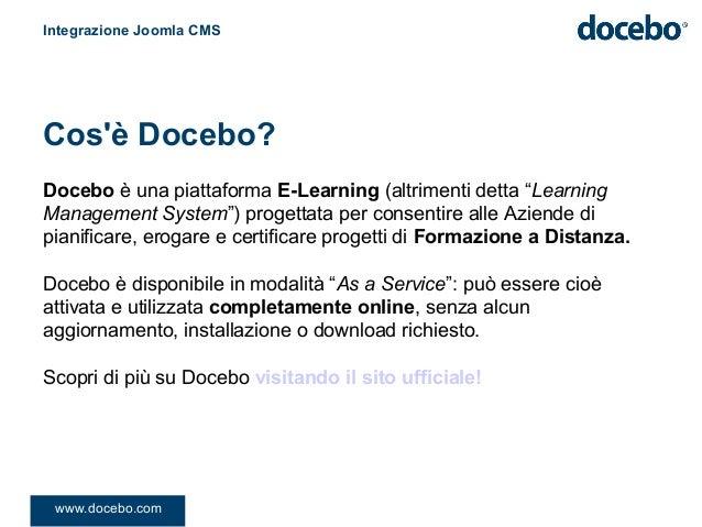 """Docebo è una piattaforma E-Learning (altrimenti detta """"LearningManagement System"""") progettata per consentire alle Aziende ..."""