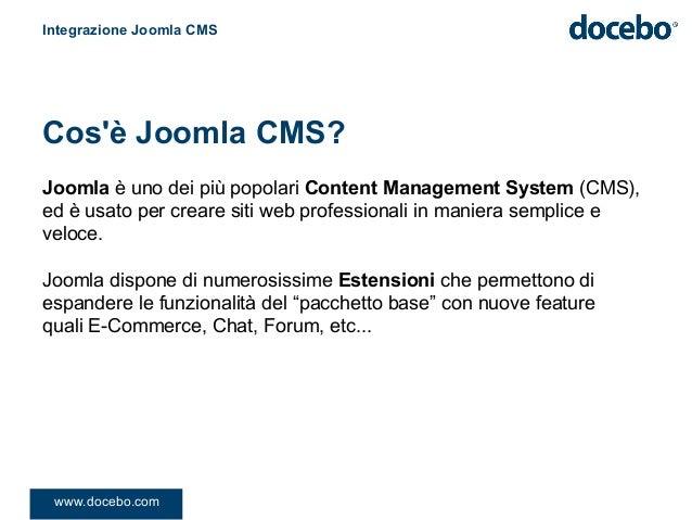 Joomla è uno dei più popolari Content Management System (CMS),ed è usato per creare siti web professionali in maniera semp...